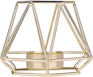 Iron Candlestick Nordic Style Gold Geometric Candlestick Candle Holders for Wedding Centerpiece Table Decorations Home Decor Patio Decor
