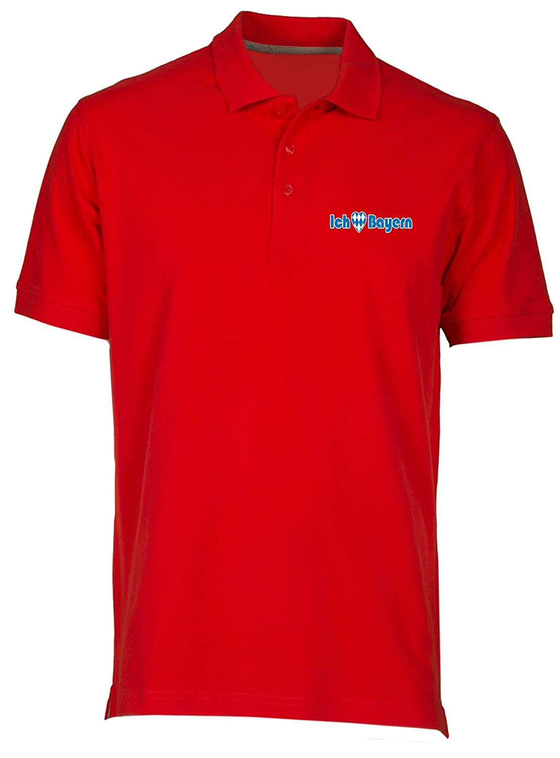 Speed Shirt Polo por Hombre Rojo WC0211 Bayern Munich I Love ...