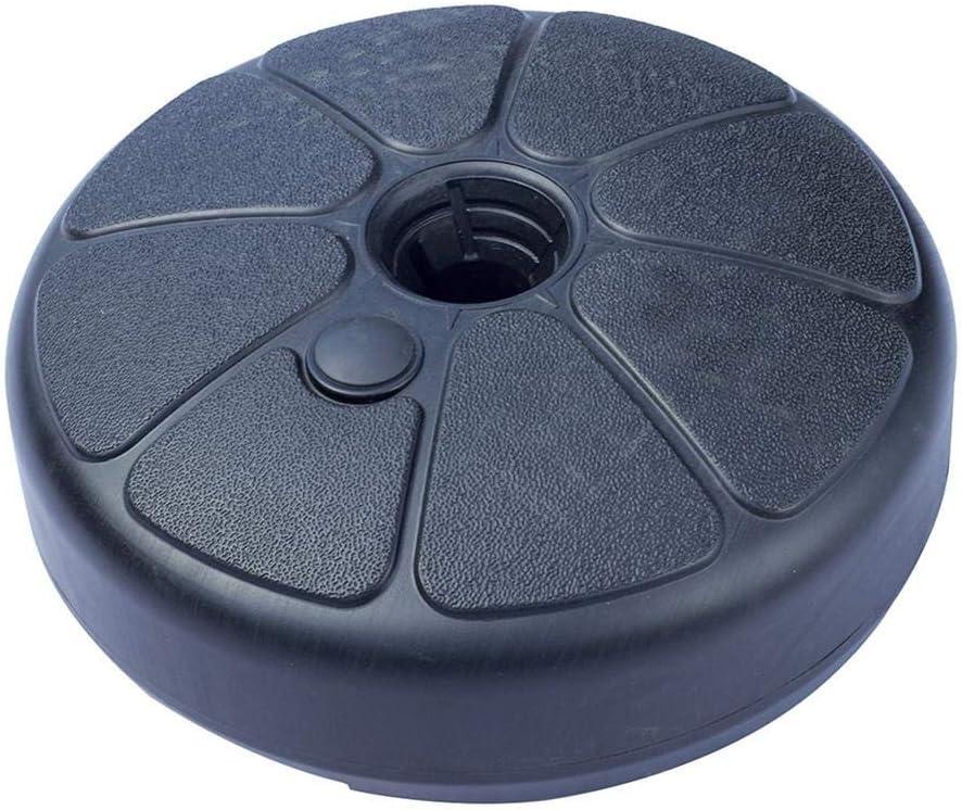 Welltobuy Base per Ombrellone in Plastica di Forma Rotonda Base per Ombrellone Sabbia Riempibile per Esterno Cortile Ombrellone Supporto per Parasole Supporto per 35-38mm Asta per Ombrellone