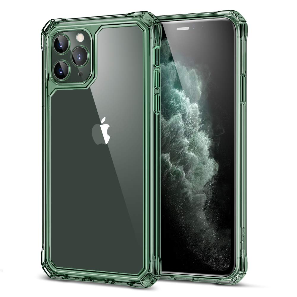 iPhone 11 Pro Max Case Military Protection Hard PC Flexible TPU Clear Dark Green  eBay