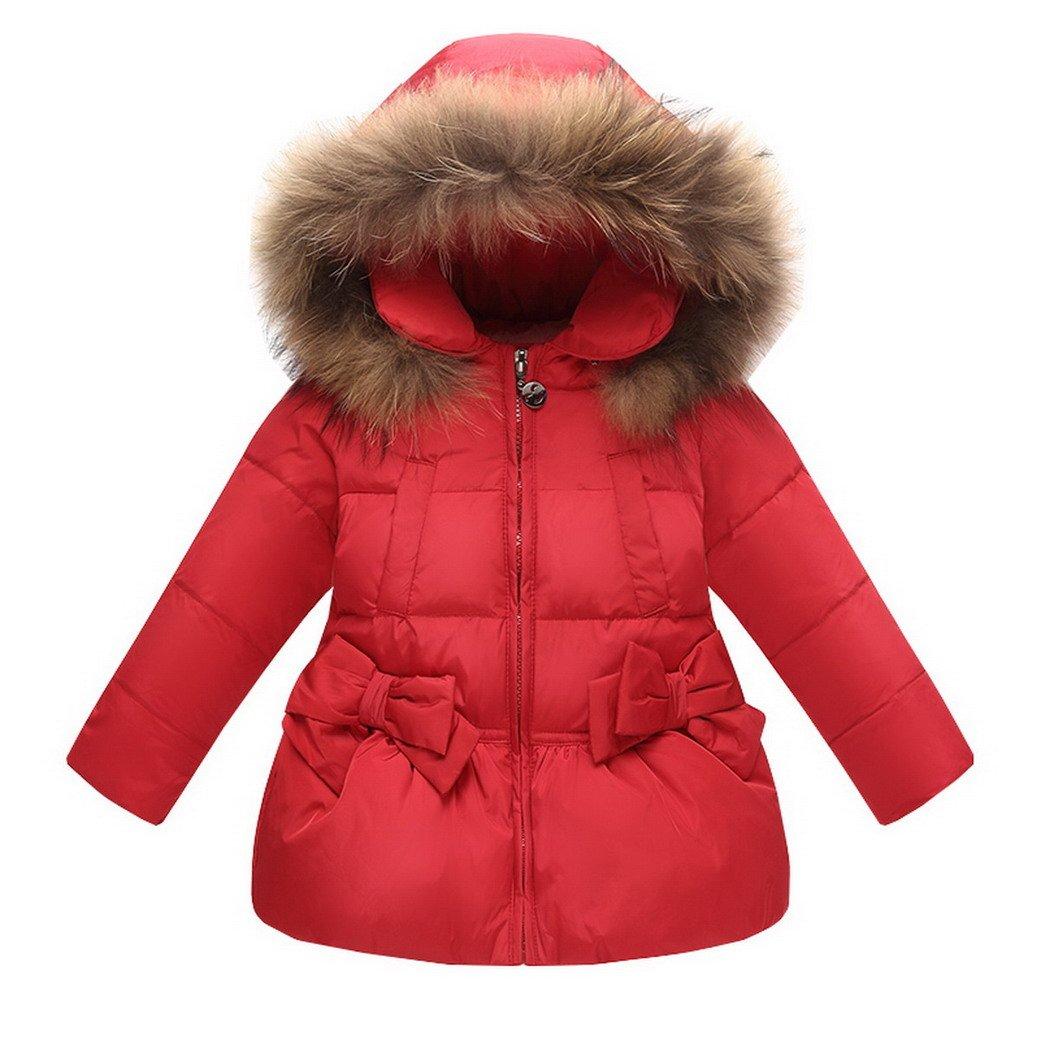 Evedaily Bambine e Ragazze Piumino Invernale Giacche Impermeabile Piumino Cappuccio Cappotto Bambina Snowsuit