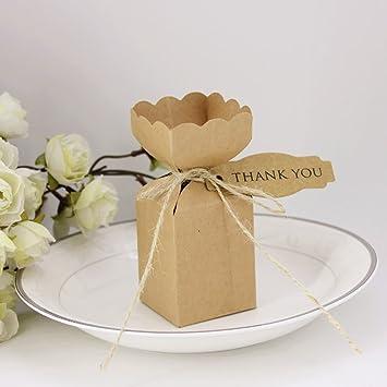 Amazon Bbshop Pack Of 50 Vase Shaped Kraft Favor Gift Boxes