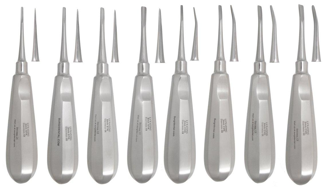 Luxating Instruments Set of 8, Premium Dental Instruments
