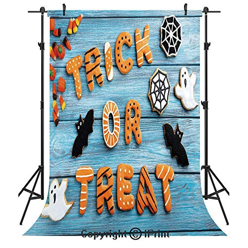 Halloween Photography Backdrops,Fresh Trick or Treat Gingerbread Cookies
