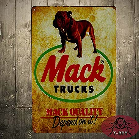 Yurkie Dec Metal Tin Sign Vintage Home decor TIN SIGN Mack Trucks ...
