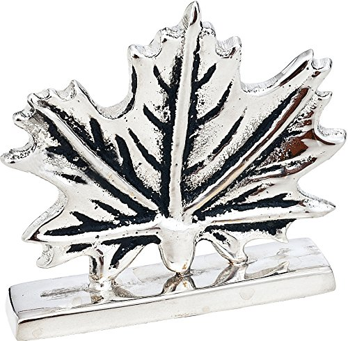 Luna Bazaar Maple Leaf Place Card Holder (2.25-Inch, Silver Plated Solid Brass) - for Home Decor and Wedding Tabletops