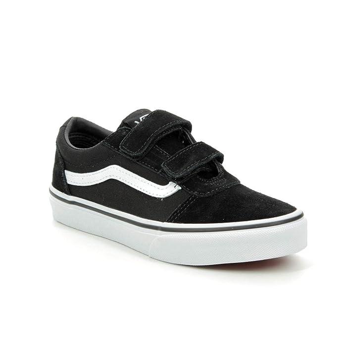 Vans Ward Sneakers Jungen / Kinder mit Klettverschluss Schwarz