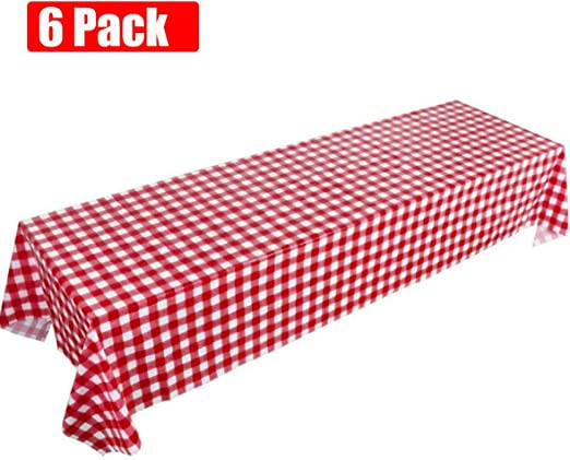 Gingham Check Red White Picnic BBQ Cookout Summer Pool Party 9 oz Paper Cups