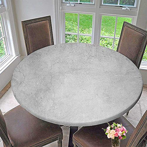 PINAFORE HOME The Round Table Cloth Gray Rough Concrete wtexture Structure for Birthday Party, Graduation Party 35.5