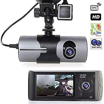 "Grewtech 2,7"" TFTLCD HD Dash-Cam DualCam coche DVR con GPS Tracker"