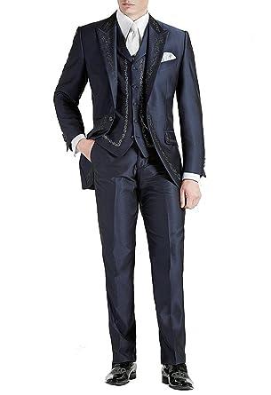 2018 Schuhe Für Original auswählen klassische Passform Suit Me Lang Herren Anzug 3 Teiler Stickerei Sakko Hose ...
