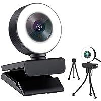 4K HD PC Webcam for Streaming HD 1080P, JFMShop 960C USB Pro Computer Web Camera Video Cam for Mac Windows Laptop…