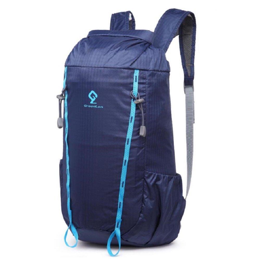 LJ&L Zaino Zaino Zaino da campeggio per escursioni a nylon impermeabile per sport nautici, zip multifunzionale ad alta capacità da 30L regolabile ultra leggeri,blu,30L | Facile da usare  | Adatto per il colore  8e61f4