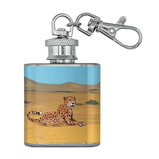 Cheetah Africa Savannah - Llavero de acero inoxidable (28,3 ...