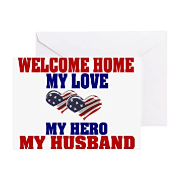 Amazon cafepress my husband welcome home greeting card cafepress my husband welcome home greeting card note card birthday card m4hsunfo
