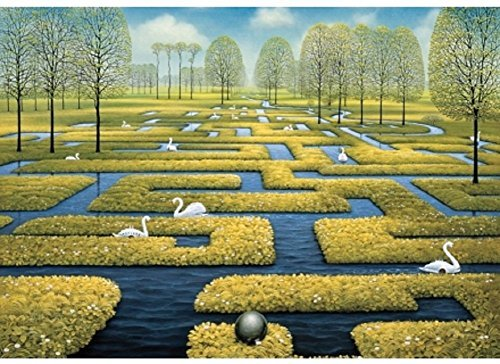 Wentworth Spring Labyrinth 250 Piece Jacek Yerka Wooden Jigsaw Puzzle