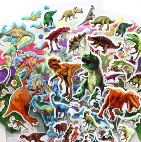 Dinosaur Stickers 3D Puffy Stickers(200+ pcs) Jurassic Dinosaur Tyrannosaurus Rex Stickers 14 Sheets Kids,Craft Scrapbooking for Decorative Sticker Decoration for Calendars, Arts Stickers -