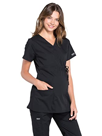 d221ed64f09 Amazon.com: Cherokee Workwear Professionals Women's Maternity Mock ...