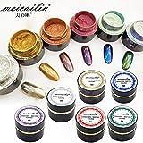 6pcs/set Nail Art Chrome Pigment Mirror Effet Nail Glitter Powder Dust 5g/bottle