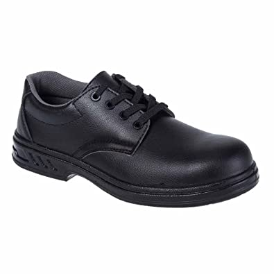 Portwest Mens Shirtlite Laced Steel Toe Capped Safety Work Shoe Black White ucNI8b