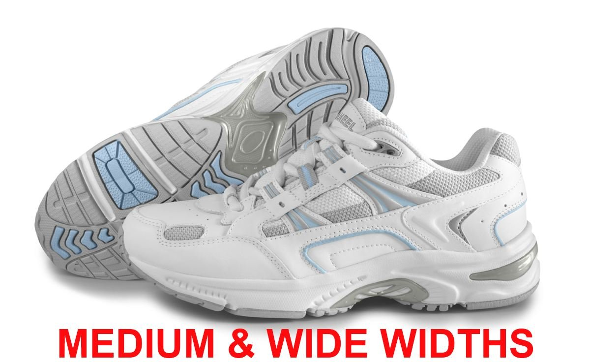 Orthaheel Vionic Women's Walker Classic White/Blue Shoes - 11 C/D US