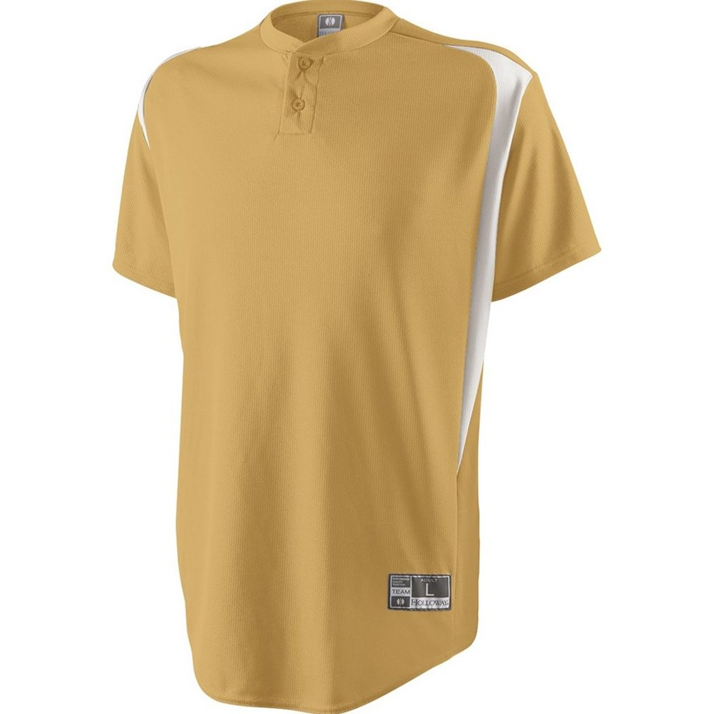 Holloway Youth Razor Jersey (Large, Vegas Gold/White) by Holloway
