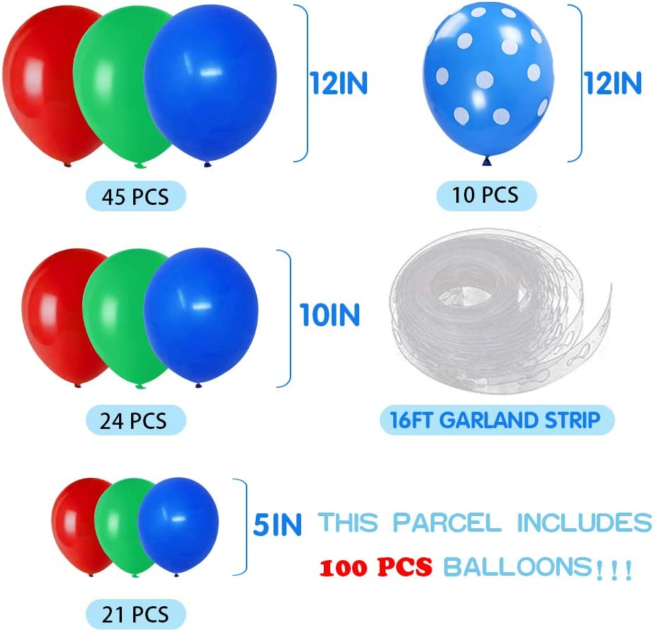 Kids Baby Shower Birthday Party Decorations Pj-Mask Inspired/Party Supplies Balloons Arch Garland Kit 100PCS