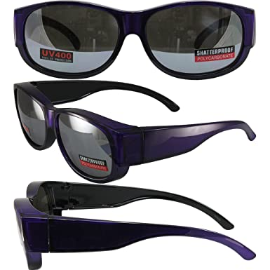 c1e4c429ede Image Unavailable. Image not available for. Color  Swag Attack Sunglasses  Crystal Purple Frames with Flash Mirror Lenses ...