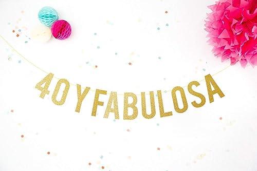 Fiesta 40 Cumpleaños Guirnalda Decoración 40 y Fabulosa ...