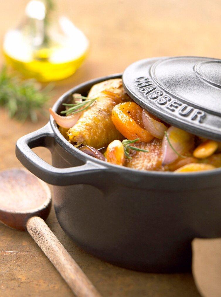 Paderno World Cuisine 6.25 Inch Black Round Dutch Oven A1737016