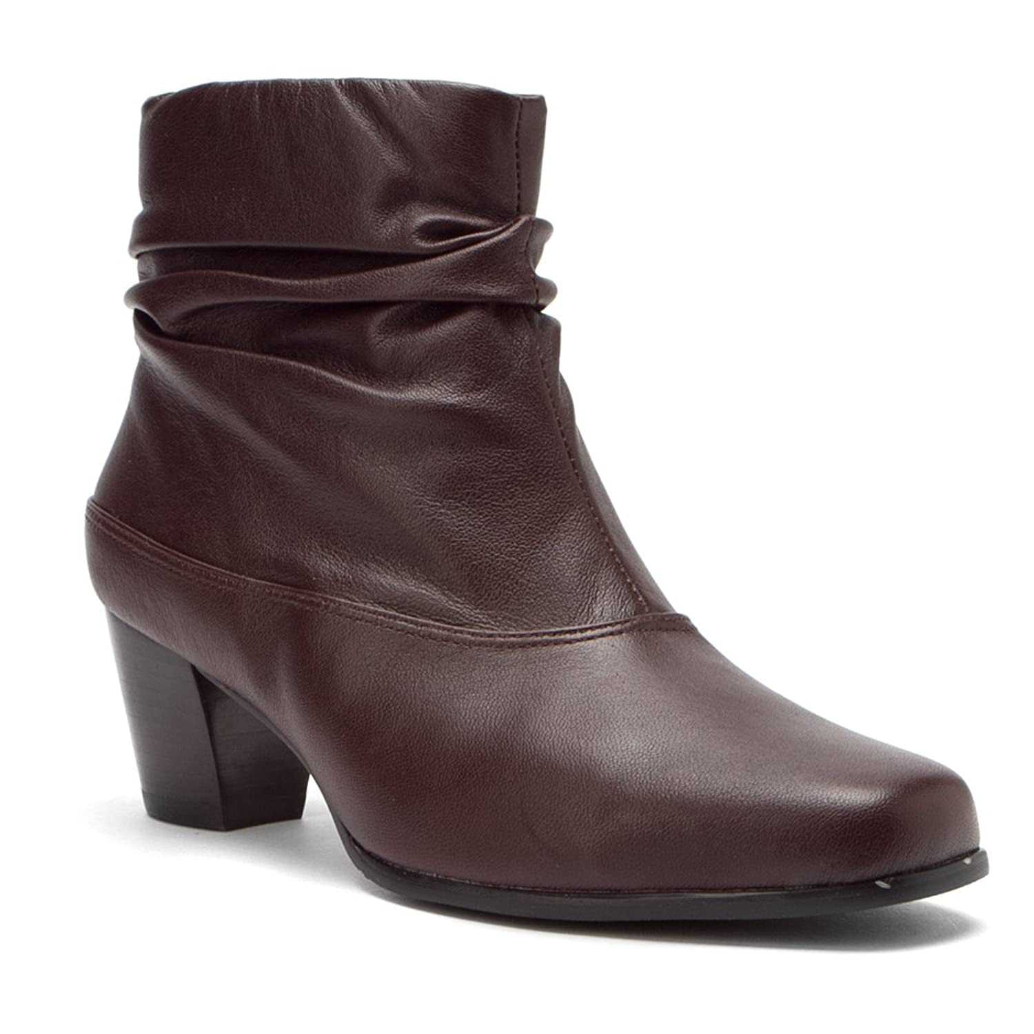 Women's David Tate Vera Ankle Boots Leather Upper