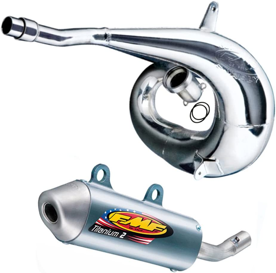 Gnarly Pipe /& Titanium 2 Silencer FMF Exhaust System compatible with Yamaha YZ250 2002-2018/_024054|024016