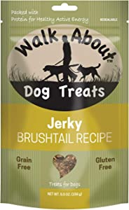 Walk About Pet, Dog Jerky Treats, Grain-Free, Gluten-Free, Single Source Protein Package May Vary
