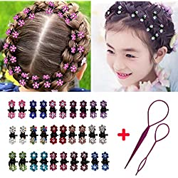 HUIXIANG 30 Pcs Crystal Rhinestone Mini Hair Claws Clips Bangs Hair Pins Accessories for Kids Woman Toddler Girl Baby