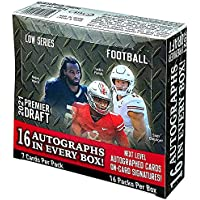 $201 » 2021 SAGE Hit Premier Draft Low Series Football box (16 pks/bx, ONE Autograph card…