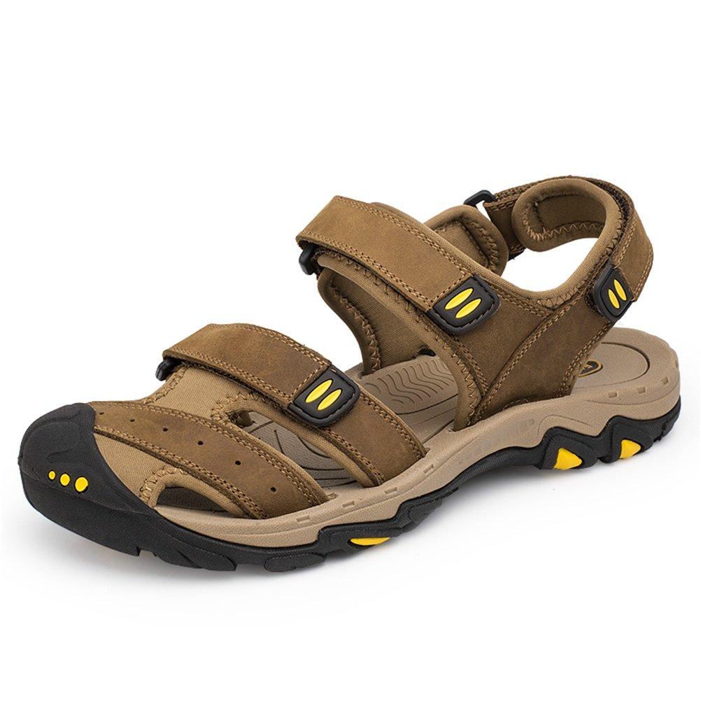 Sandalias Deportivas Verano los Hombres Al Aire Libre Pescador Playa Zapatos Casuales Cuero Transpirable Senderismo, Light brown, 38 EU 38 EU|Light brown