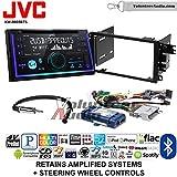 Volunteer Audio JVC KW-R935BTS Double Din Radio Install Kit with Bluetooth USB/AUX Fits 2003-2005 Chevrolet Blazer, 2003-2006 Silverado, Suburban