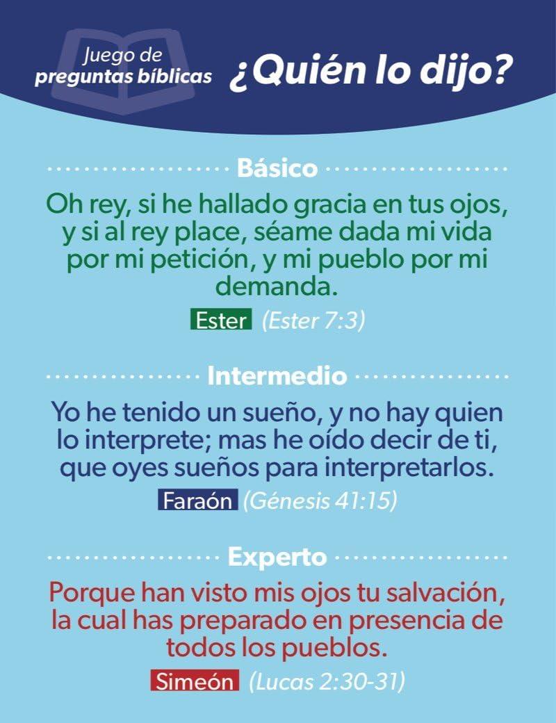Quién lo dijo?- Juego de cartas de preguntas bíblicas: Amazon.es: Juguetes y juegos