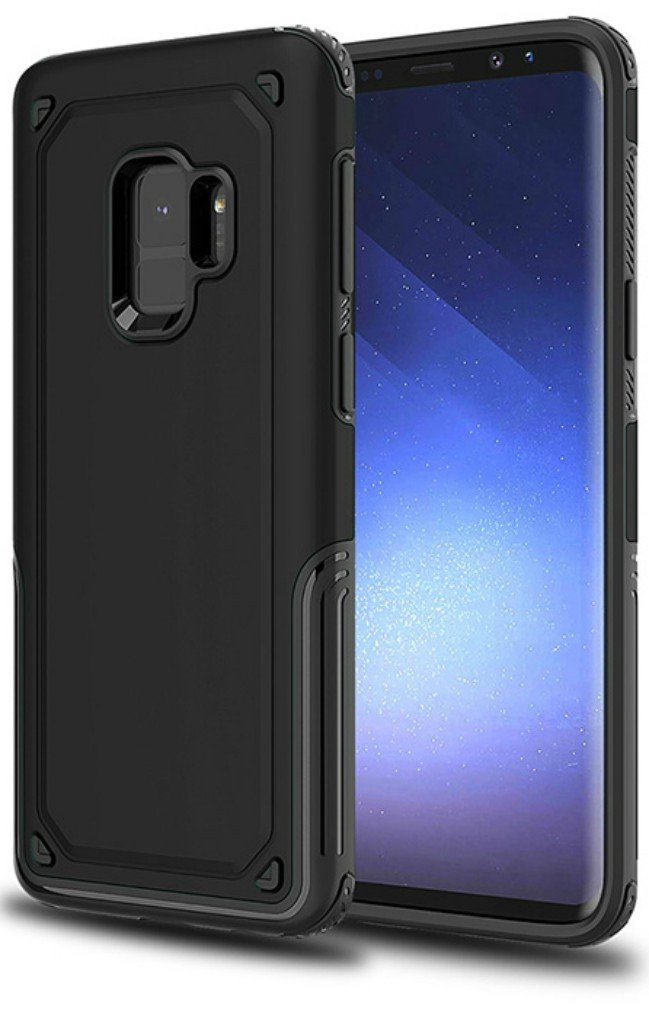 Galaxy S9 Case, Hyperion [Titan Series] Slim Dual Layer Protective Cell Phone Cover for Samsung Galaxy S9 (2018) -Matte Black