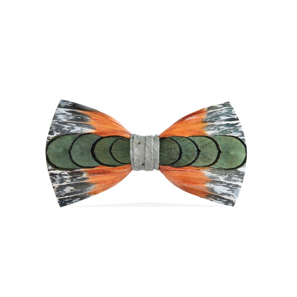 260-BRK Brackish Mens Lucas Handcrafted Feather Bow Tie