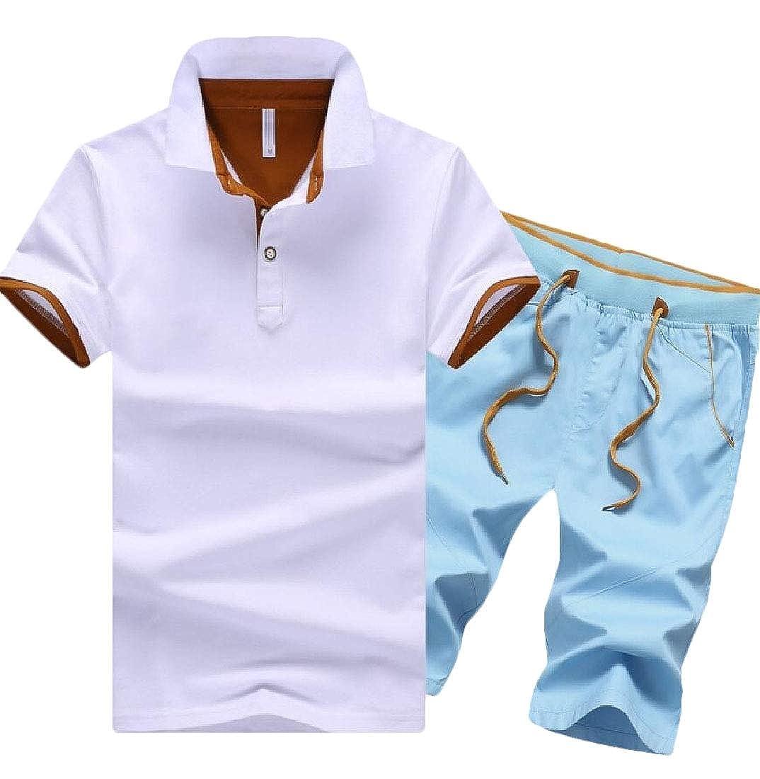 Chándal Casual de 2 Piezas para Hombre con Camisetas y Pantalones ...