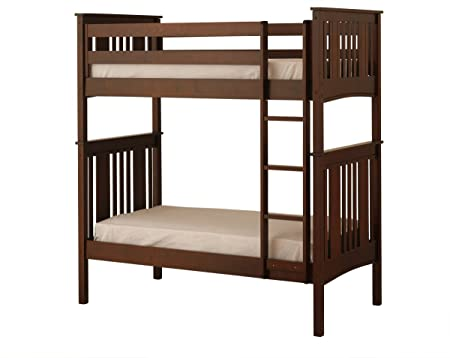 Canwood Base Camp Twin Over Twin Bunk Bed With Vertical Ladder Guard