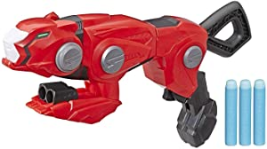 Power Rangers Beast Morphers Cheetah Beast Blaster from TV Show Red Ranger Roleplay Toy, Includes 3 Nerf Darts