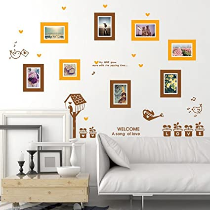 Amazon.com: Photo Frames Birds English Letter Wall Sticker Decal ...