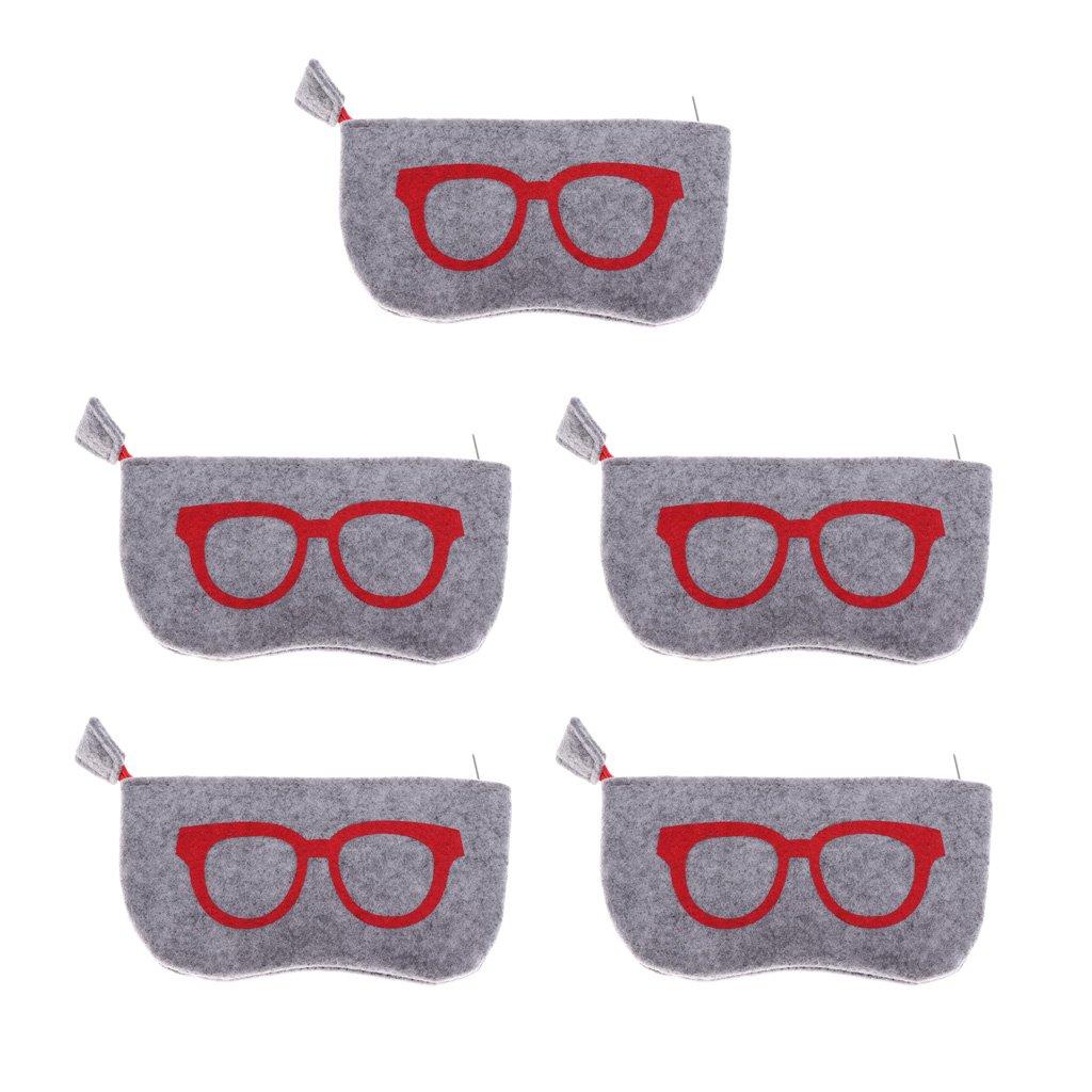 CUTICATE 10pcs Eyeglasses Bags Portable Soft Felt Sunglasses Protective Case Pouch