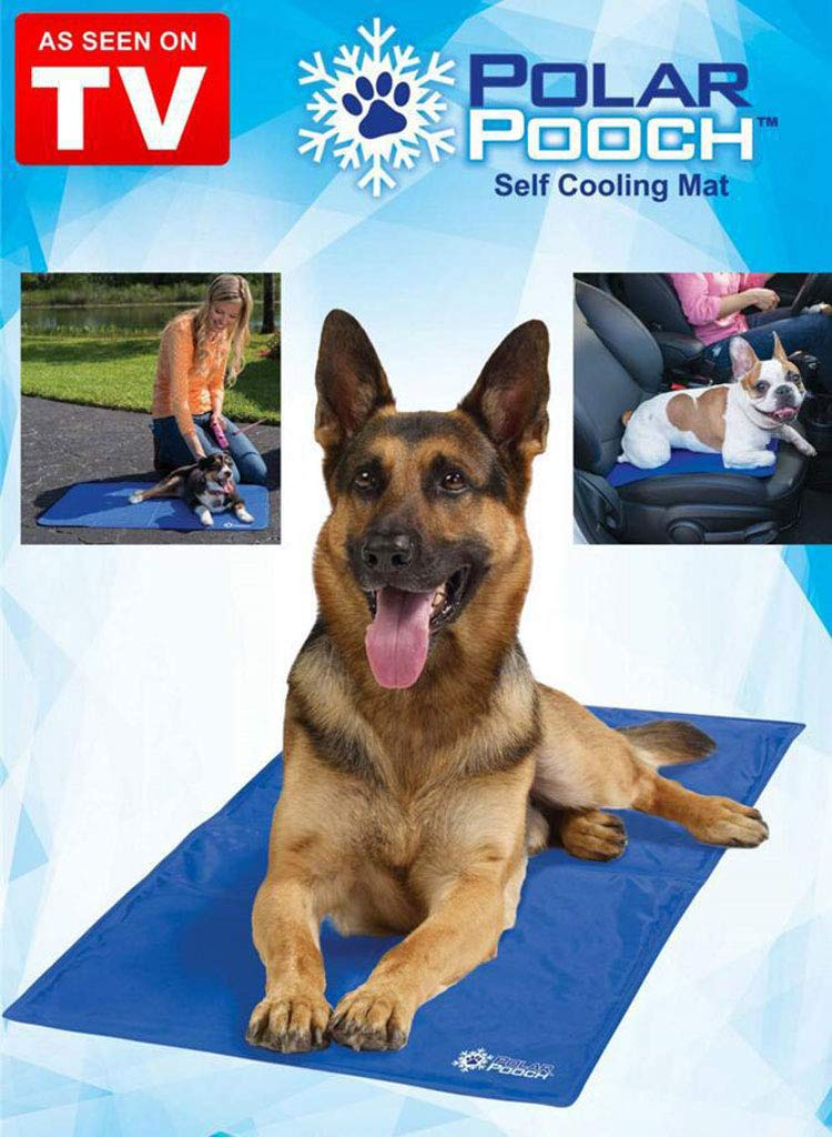 GR&ST Pets Cool Mat Dogs Self Cooling Gel Wear Resistant Mat Easy to Clean Pads Mattress Pet Cat Cool Beds Extra Large for Dog,Kennels and Beds,82  53CM(bluee)