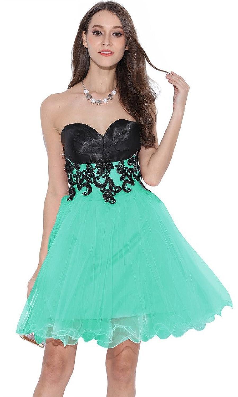 Amazon.com: Ababalaya Short Prom Tulle Dresses Tutu Homecoming Dress ...