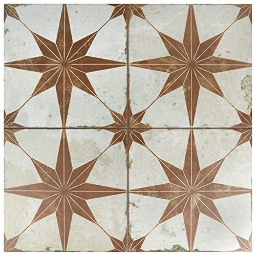 SomerTile FPESTRO Astre Ceramic Floor and Wall Tile, Oxide by SOMERTILE