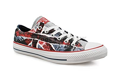 Converse Unisex - Chuck Taylor CT Ox Indigo UK flag - Black