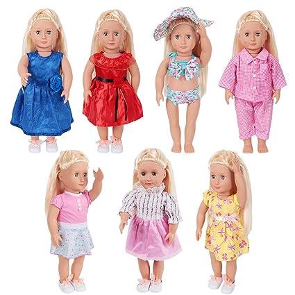 Amazon.com  LetsFunny Doll Clothes for 18 Inch Dolls - Girl Dolls 7 ... b44ecf6c1